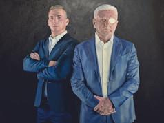 Olaj portré - Apa és Fia