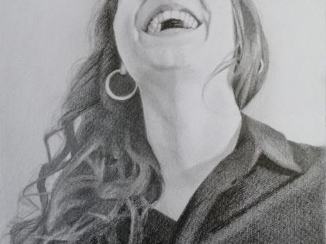 Grafit portré - Török mosoly