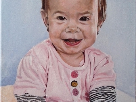 Olaj portré - Baba