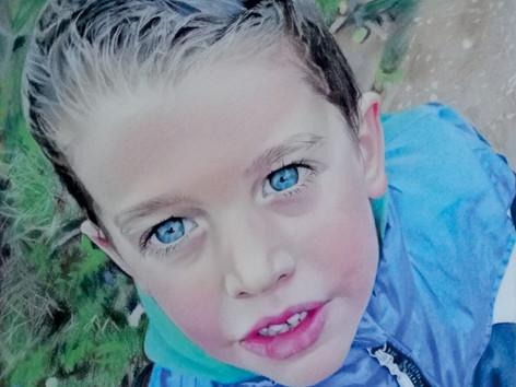 Pasztell portré - Kisfiú