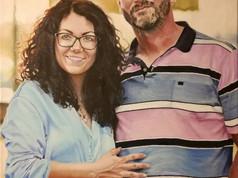 Olaj portré - Férj és Feleség
