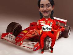 Digitális karikatúra - Ferrari