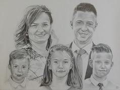 Grafit portré - Kaposi család