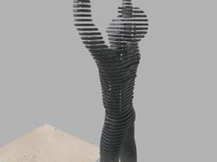 Térplasztika - Acél szobor_9