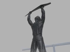 Térplasztika - Acél szobor_3