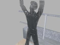 Térplasztika - Acél szobor_15