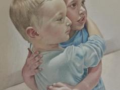 Pasztell portré - Barátok
