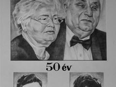 Grafit portré - Régen és ma