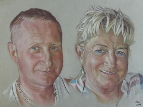 Pasztell portré - Páros