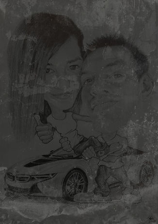 HJ Art Studio_ grafit karikatúra