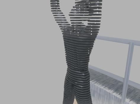 Térplasztika - Acél szobor_10