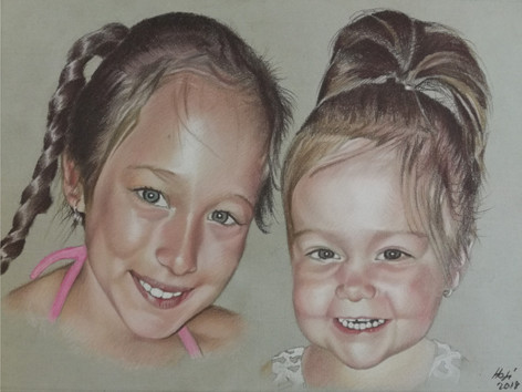 Pasztell portré - Csajok