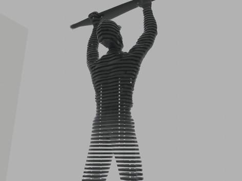 Térplasztika - Acél szobor_7