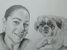 Grafit portré - Dog