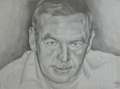Grafit portré - Tekintet