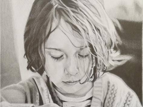 Grafit portré - Martha