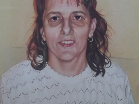 Pasztell portré - egy Anyuka