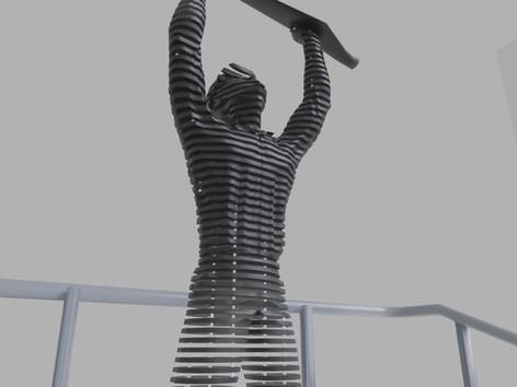 Térplasztika - Acél szobor_6