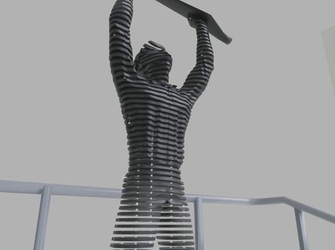 Space sculpture - Steel sculpture_6