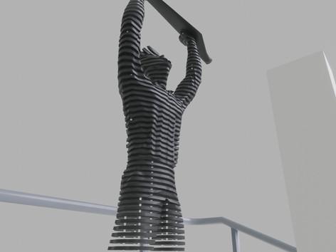 Space sculpture - Steel sculpture_5
