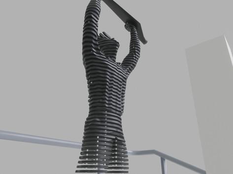 Térplasztika - Acél szobor_5