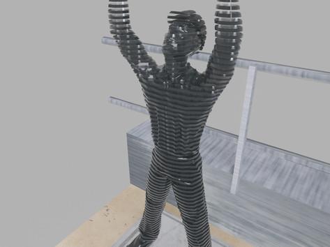 Térplasztika - Acél szobor_16