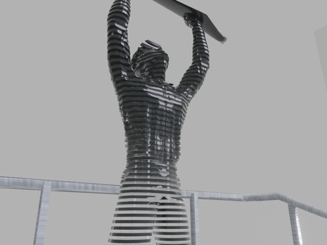 Térplasztika - Acél szobor_14