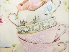 Csendélet - Virágos csészék
