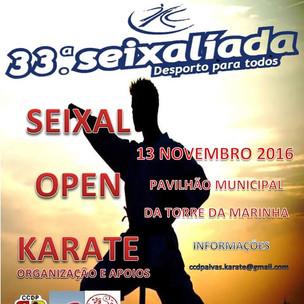 Participação no Seixal Open Karaté                                               Pavilhão Municipal