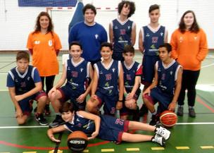 Basquetebol do CDP–Estreia dos Sub 16 Masculinos.