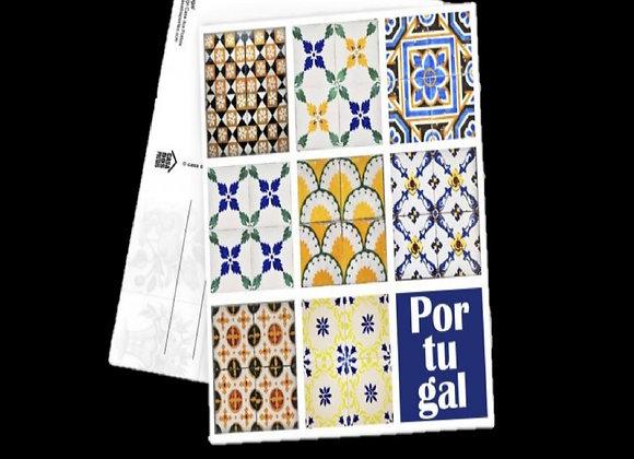 Postal Quadrado - Azulejo