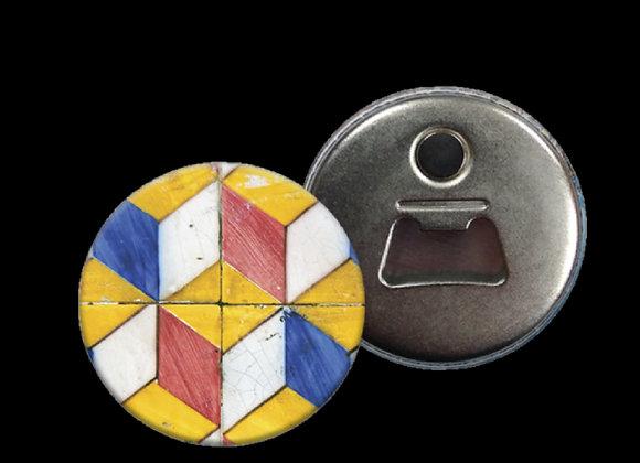 Abre cápsulas de metal com magnético