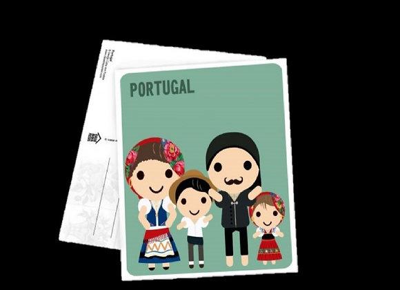 Postal Quadrado - Família Tradicional