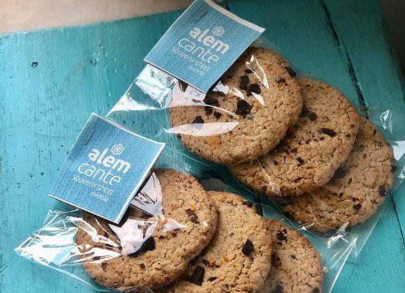 Cookies de Laranja e Chocolate