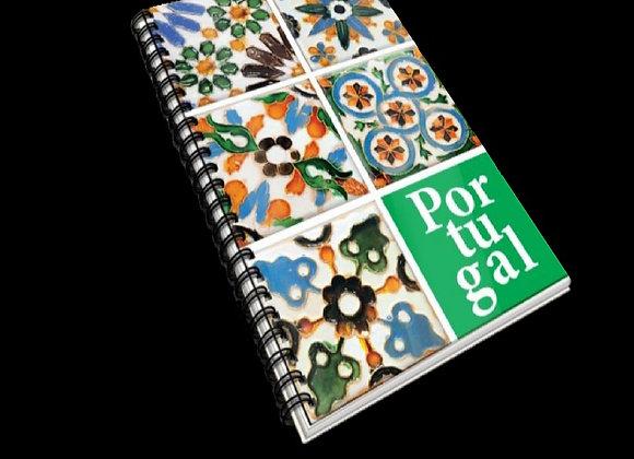Caderno A6 Azulejos