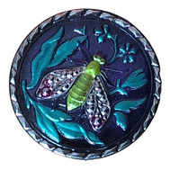 チェコ ガラスボタン(ホタル)