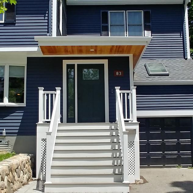 Newton entry porch and exterior