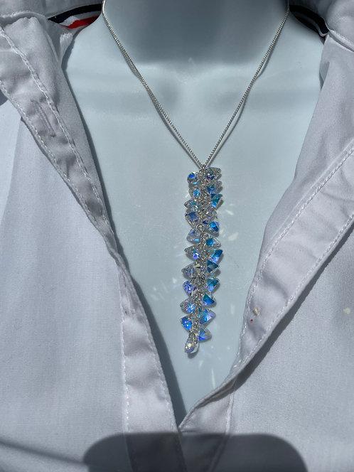 Swarovski Crystal Triangle AB Tassel Necklace