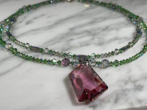 Swarovski Peridot Shimmer Necklace