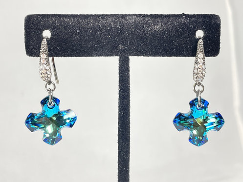 Swarovski Greek Cross Earrings