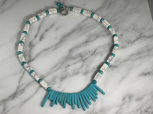 Howlite Bohemian Necklace