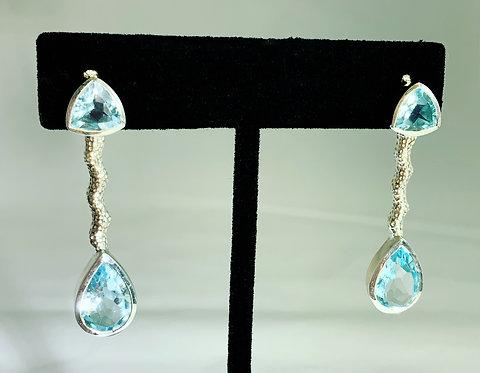 Aquamarine Stationary Earrings