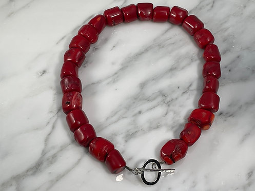 Chunky Red Coral Necklace