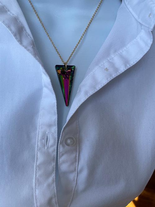 Swarovski Crystal Spike Vitrail Necklace
