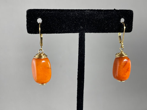 Orange Quartzite Earrings