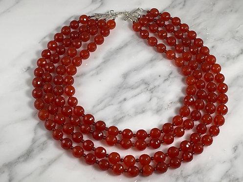 Multi-Strand Carnelian Necklace