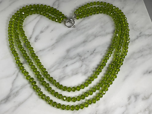 Apple Green Crystal Necklace