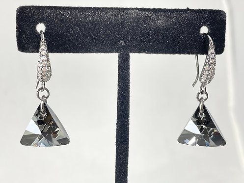 Swarovski Crystal Silver Night Earrings
