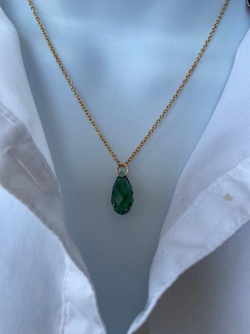Swarovski Briolette Erinite Necklace