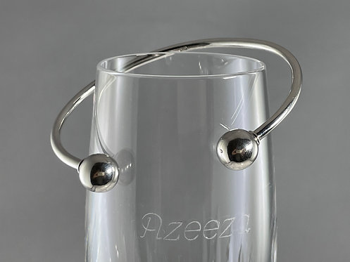 Cuff Bangle Bracelet With Removable End Cap For Charm